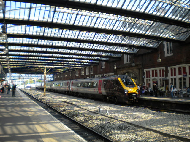 Under the overall roof at Stoke station