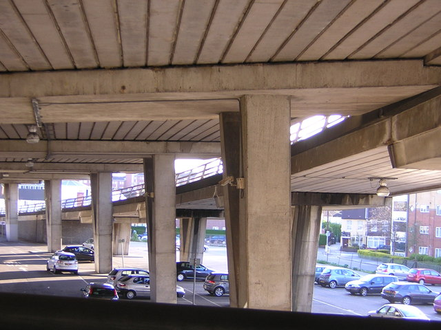 Car parks under the Croydon Flyover