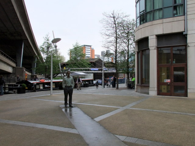 Standing Man Paddington Basin London