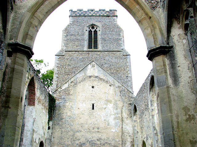 The ruin of St John's church in Stanton