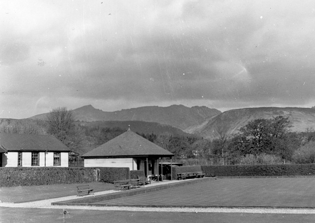 The pavilion, Brodick bowling green