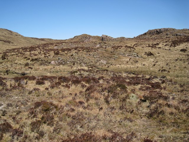 Rock outcrops on the moor