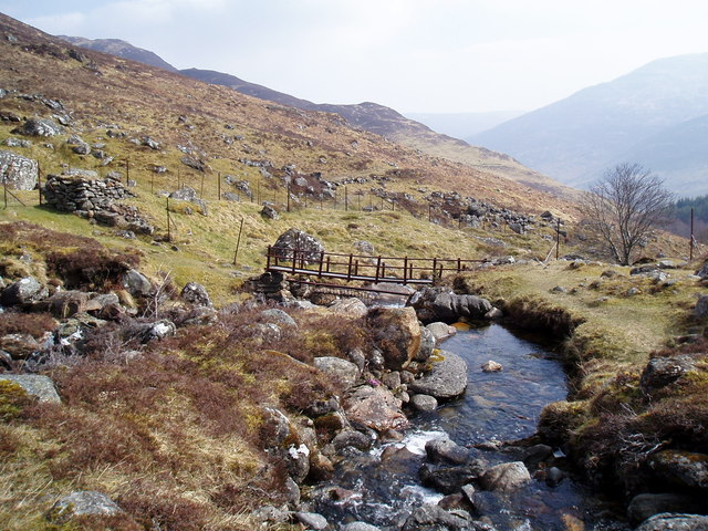 Footbridge over Invervar Burn