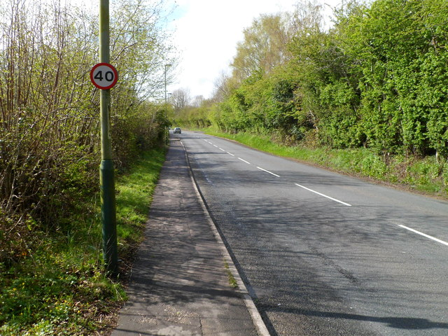 Rural section of the B4263 SE of Abertridwr