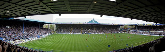 Hillsborough Stadium : The view from the North Stand, Row 31, Seat 60