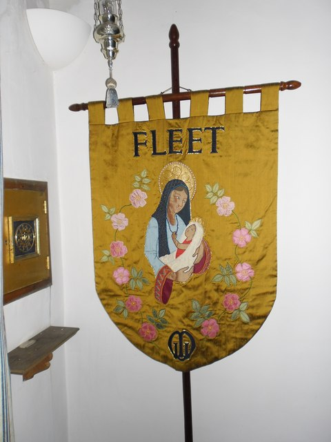 A Fleeting visit to All Saints': Mothers' Union banner (a)