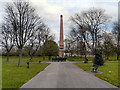 SD8402 : Crumpsall Park Obelisk by David Dixon