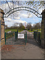 SD8402 : Crumpsall Park Gates by David Dixon