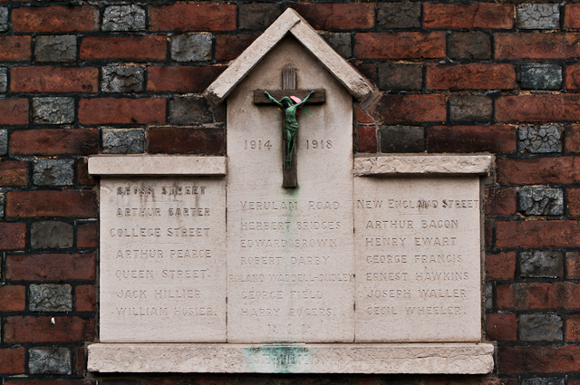 World War I Street Memorial, Verulam Road