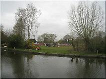 SU6870 : Boat yard - Burghfield Bridge by Logomachy