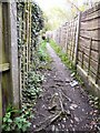 SJ9494 : Fenced-in footpath by Gerald England