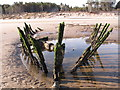 NJ0164 : Remains of an Old Boat on Culbin Beach by Alan Hodgson