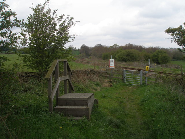 Level crossing near Carr Lodge Farm