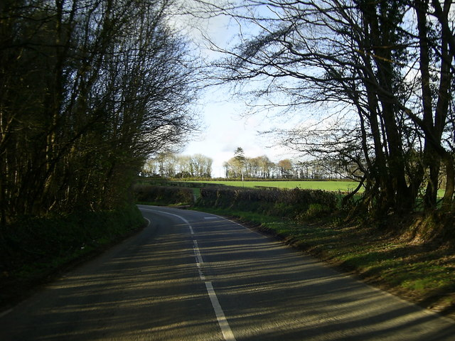 Bend in the road to Llawhaden
