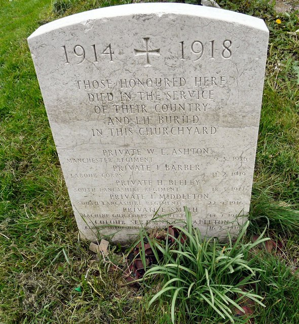 WWI Gravestone in St George's churchyard