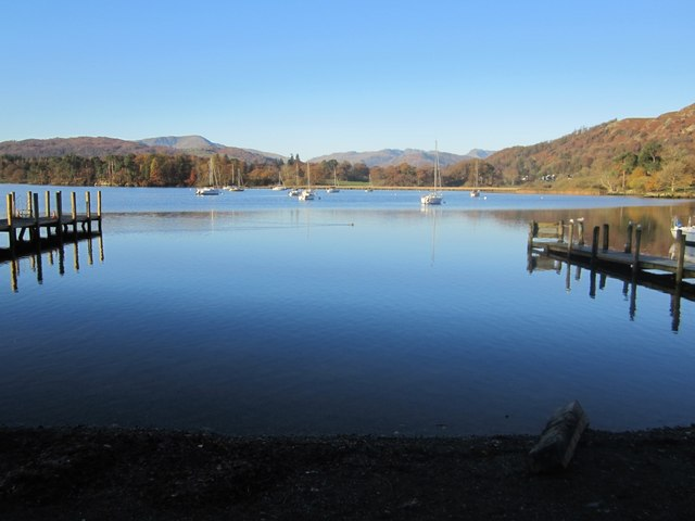 Windermere from jetties at Waterhead