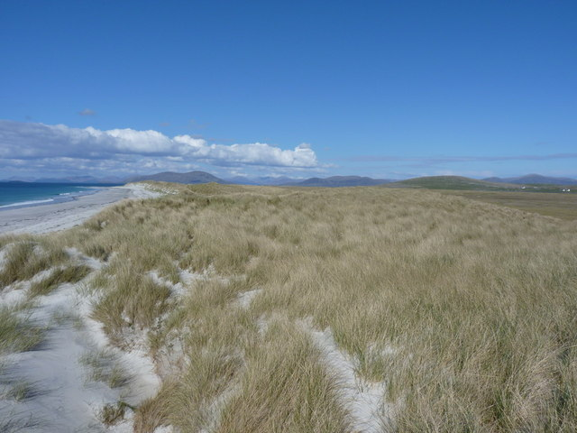 Dunes behind the west beach