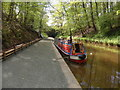 SJ2837 : Working Narrow Boat Hadar moored at Chirk Tunnel by Keith Lodge