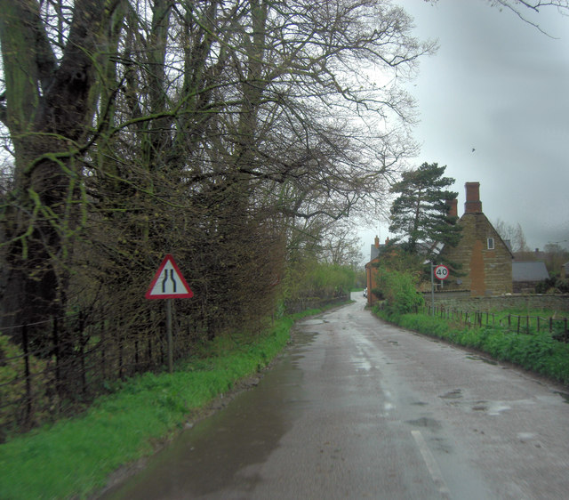 Middle Street enters Upper Heyford
