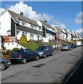 ST1289 : Semi-detached houses, King Street, Abertridwr by John Grayson