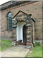 SJ5578 : St Peter, The Parish Church of Aston by Sutton, Porch by Alexander P Kapp
