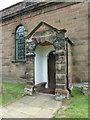 SJ5578 : St Peter, The Parish Church of Aston by Sutton, Porch by Alexander P Kapp