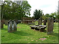 SJ5578 : St Peter, The Parish Church of Aston by Sutton, Graveyard by Alexander P Kapp