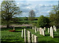 Dist:0.1km&lt;br/&gt;Looking across the graveyard and the Poulter valley.