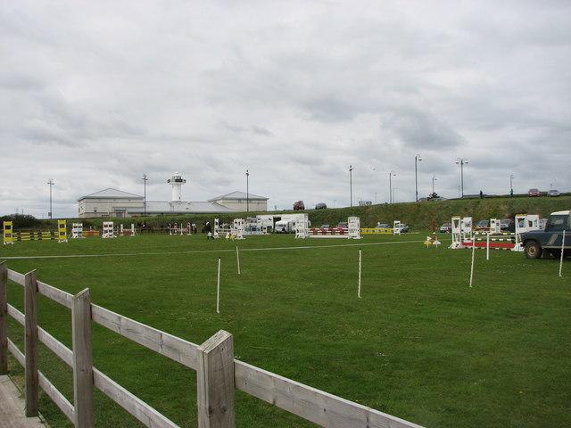 Show-jumping arena ,Portrush