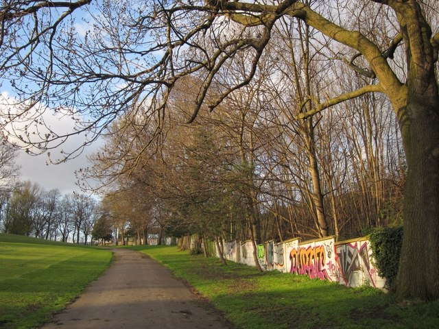 Path in Burley Recreation Ground