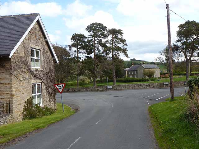 Five way crossroads at Thornley Gate