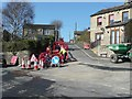SE1822 : Road works, Littlethorpe Lane, Hartshead by Humphrey Bolton