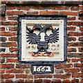 SD4616 : Rufford Old Hall, Coat of Arms and Datestone by David Dixon