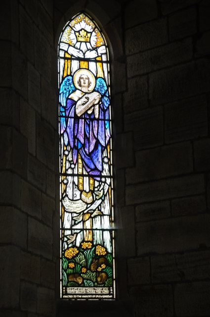 Stained glass window, Aston Ingham church