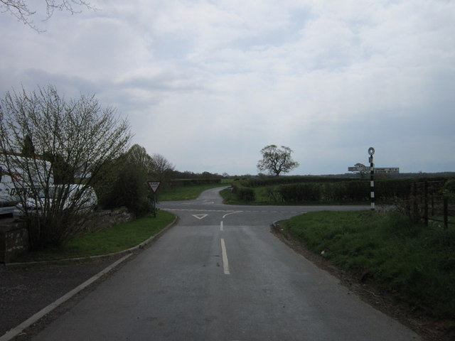 The crossroads at Fir End