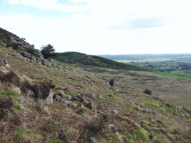 The eastern slopes of Slievenabrock