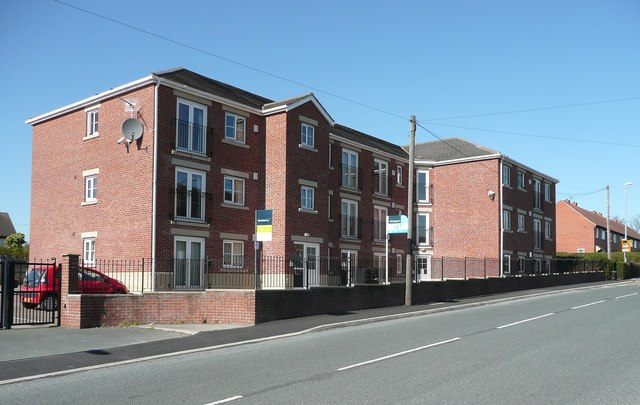 Flats on the site of King's Head coal mine, Mirfield