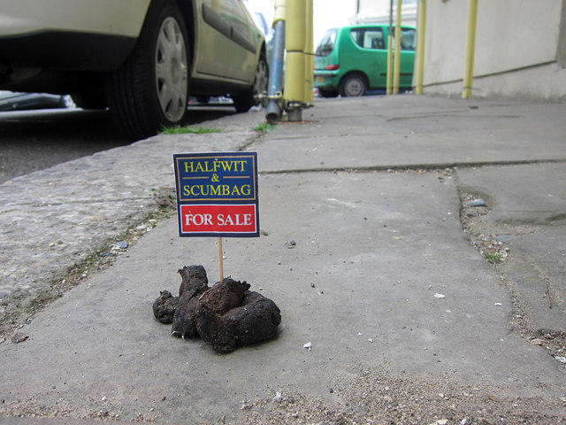 Dog poo for sale, Plynlimmon Road