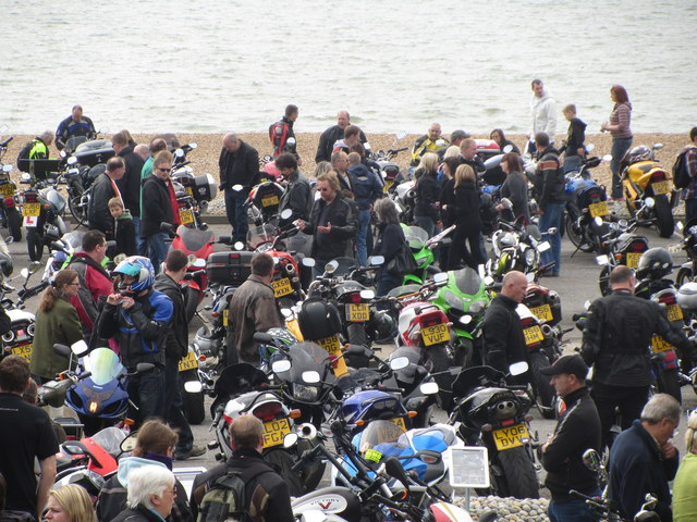 Motorbikes in Pelham Place car park