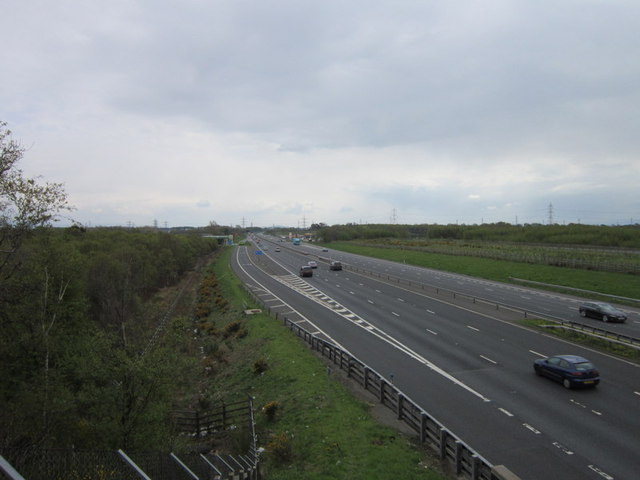 M6 southbound from Todhills Bridge