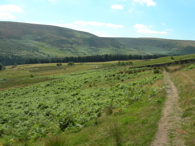 Above Crowden on the Pennine Way