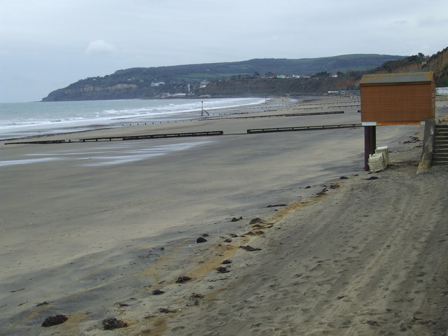 Sandown beach at low tide