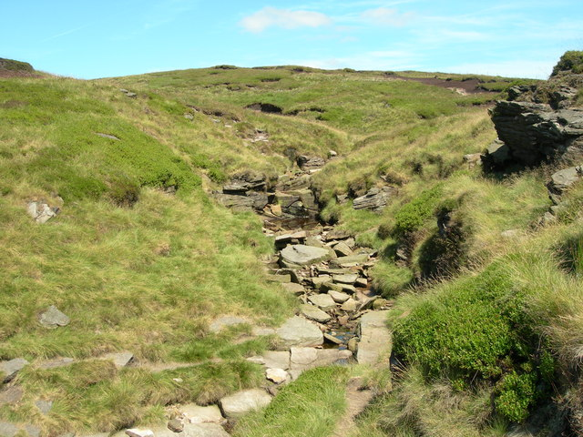 Looking up Hollins Clough