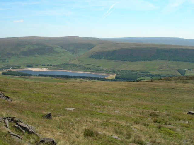 Torside Clough and Reservoir from Millstone Rocks