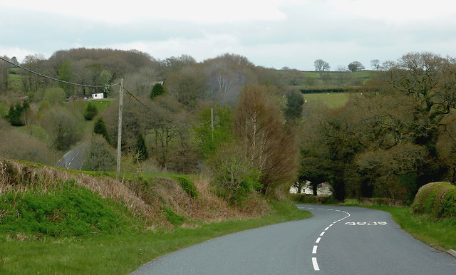 The B4538 north-east of Llanafan-fawr, Powys