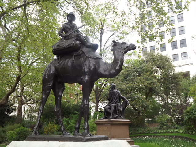 Camel Corps Statue