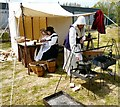 SJ9495 : Preparing a Civil War lunch by Gerald England