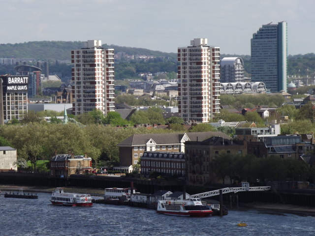 Rotherhithe from Tower Bridge