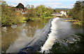 SO5174 : Weir on the River Teme, Ludlow by Chris Allen