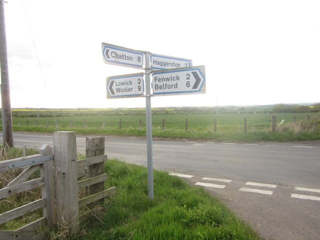 Sign at Crossroads near Black Heddon